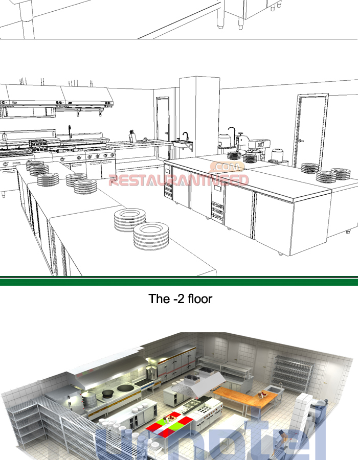 Shinelong Customized Project Chinese Kitchen Design