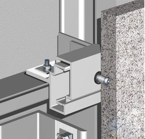 Aluminium Stone Bracket Marble Stone Fixing System With