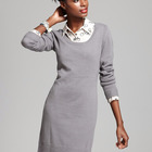 Ladies Fashionable Grey Cashmere Knitted Dress for Sale