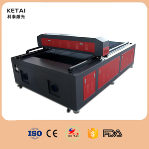 High performance and low cost co2 laser cutting engraving machine with water chiller W5000