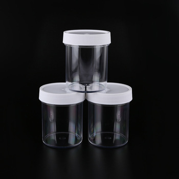 4 Oz Slime Containers Wide Mouth Clear Plastic Storage Jar
