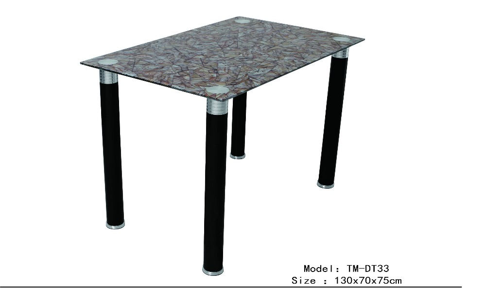 durable tempered glass dining table living room dining table elegant