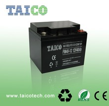 High quality Rechargeable 12v sealed lead acid battery 40ah for UPS EPS