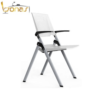 Shunde Wholesale Pure white Bearing Capacity 200KGS Plastic folding Chair for office