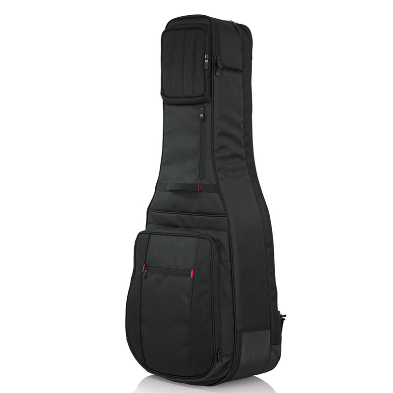 Waterproof shakeproof guitar bag with pocket