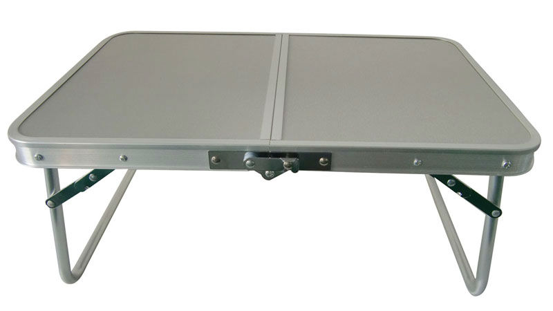 Ext rieur petite table de camping pliable en aluminium for Table exterieur en aluminium