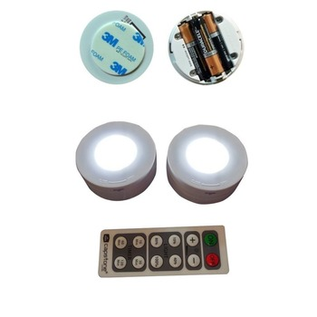 2017 New Wireless Led Puck Light 6 Pack With Remote Control Light Buy Remote Control Light Product On Alibaba Com