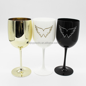 Funny Unbreakable White Colored Wine Glass