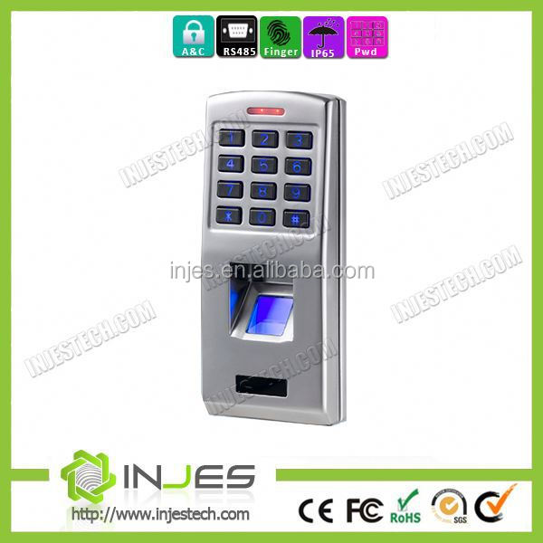 2014 Hot color screen keypad waterproof outdoor biometric access control system with Mini size
