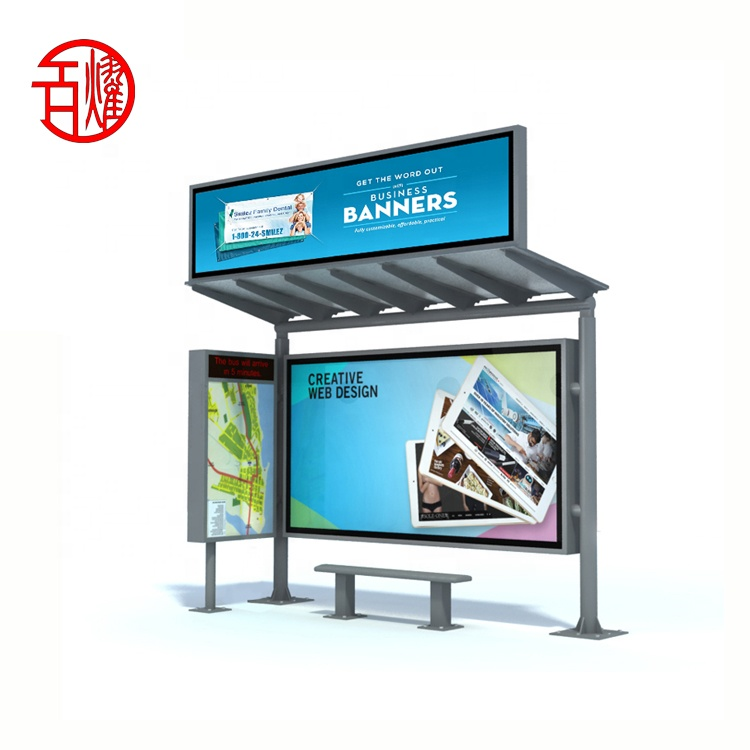 Customizable multi-purpose bus stop shelters bus stop outdoor <strong>advertising</strong>