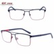 2018 china wholesale new high rimless quality stainless frame metal optical eyeglasses frames for women