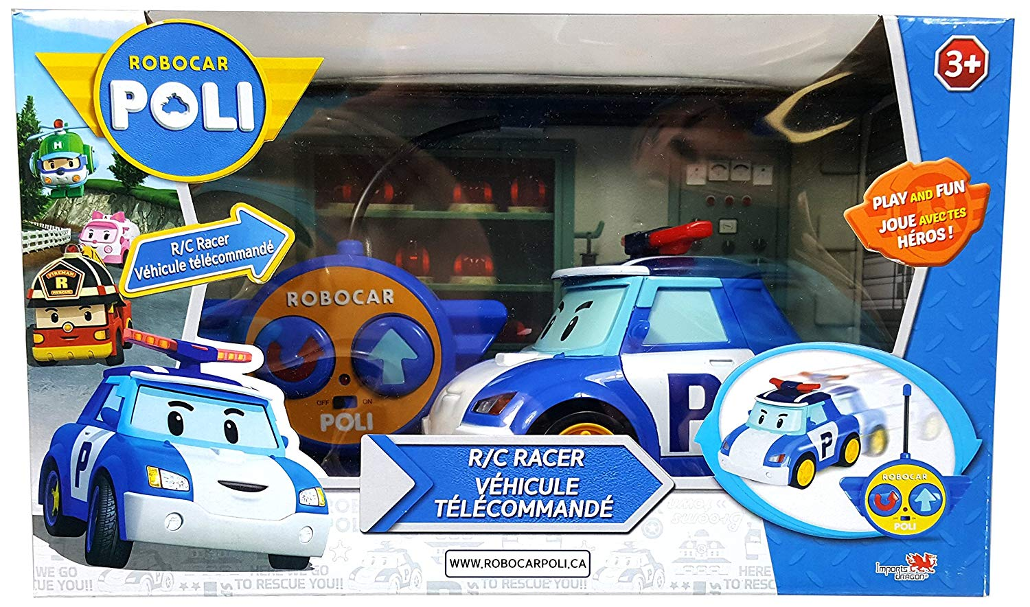 Robocar Poli ID83187 R/C Racer R/C Vehicle (Pack of 2)