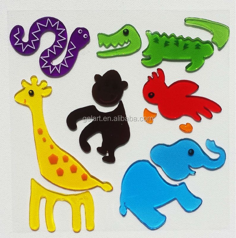 Hoge kwaliteit wallsticker jelly windows stickers Gel Vastklampt sticker set
