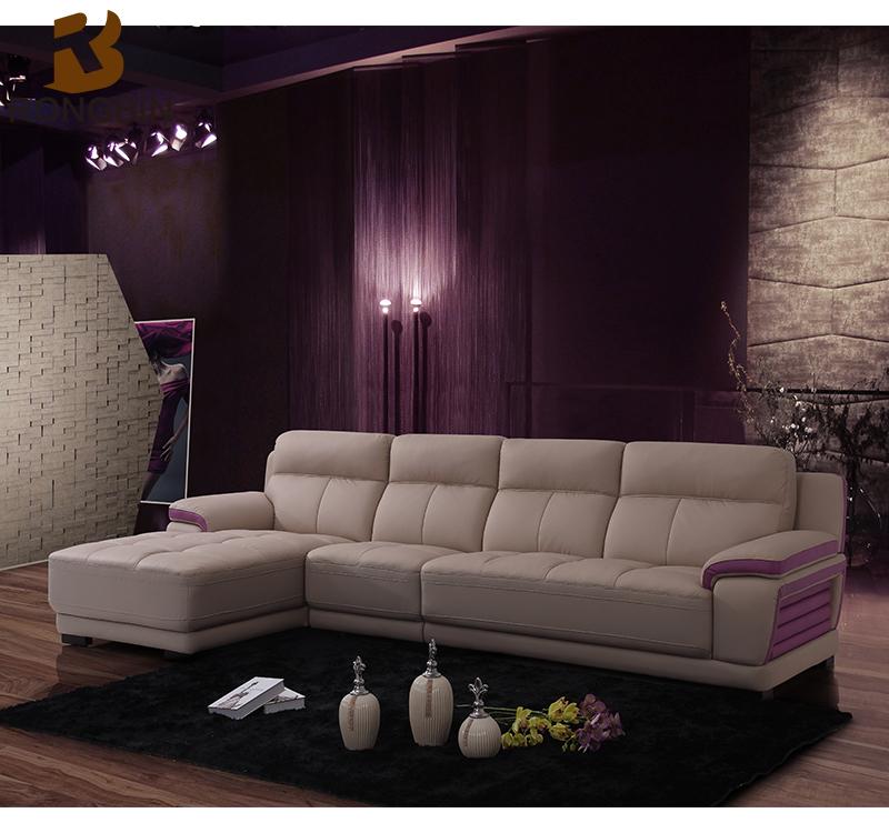 Salon meubles dernière L en forme causeuse aviator canapé de luxe ...