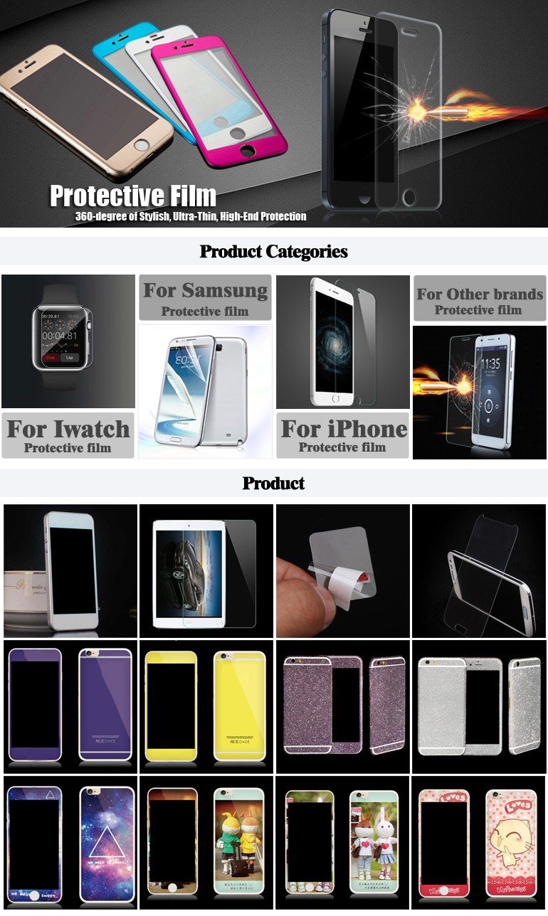 Full metal film color film phone stickers for iPhone6/6s/plus