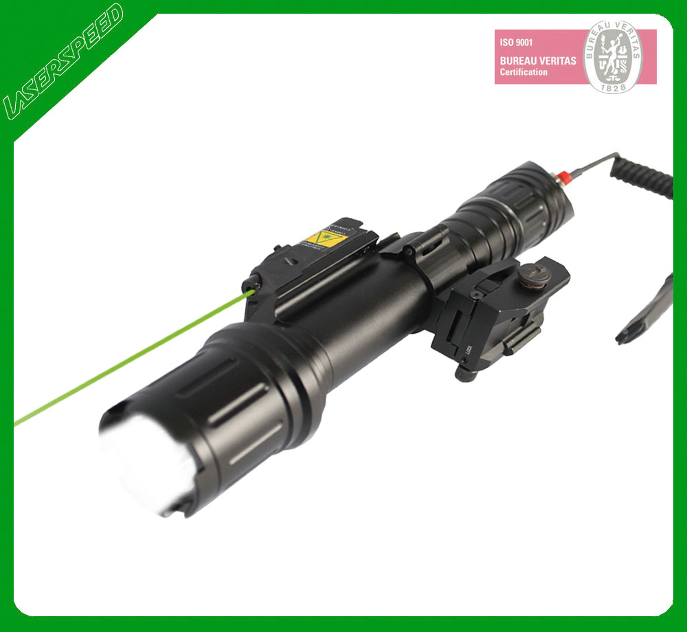 Hunting green laser gun sight lights with scope