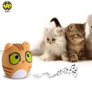 2018 Mini Portable Bluetooth Animal Speaker Kitty Cat Mouse Dog Panda with Mic Surround Sound Wireless 1 inch Pet Cat Speaker