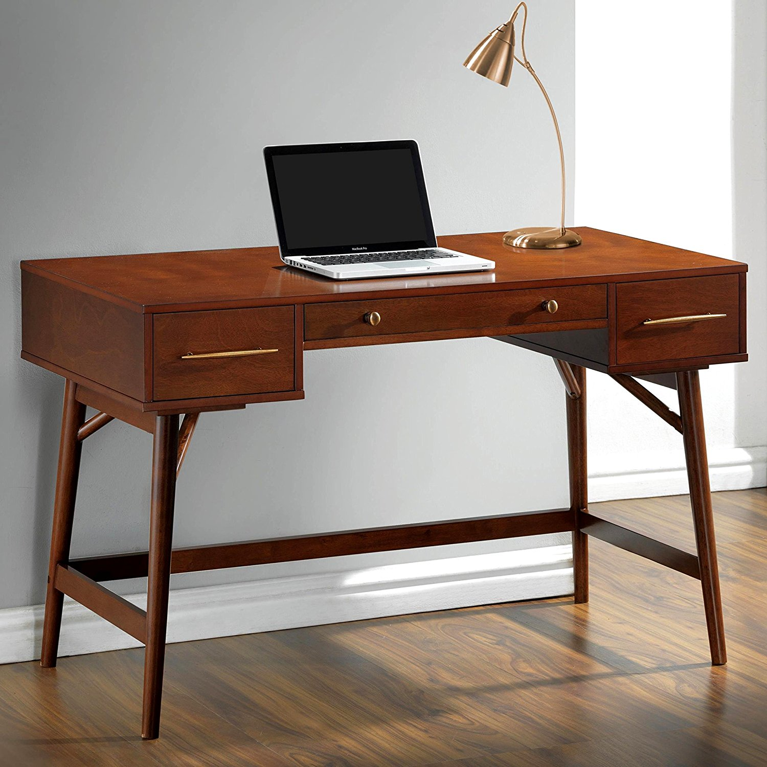 A Line Furniture Mid-Century Modern Design Home Office Writing/ Computer Desk with Drawers