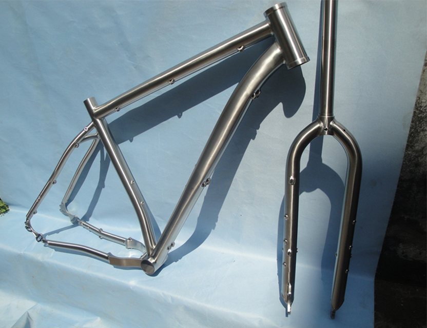 Titanium bicycle moutain bike cycling frame for belt drive