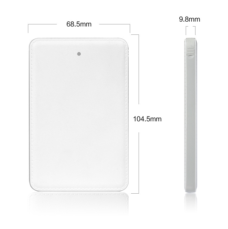 Latest 4000mAH credit card power bank with Built-in charging cable and connector