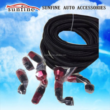 AN8 Steel Nylon Braided 8AN Oil Fuel line Hose+Fitting Hose End Adaptor Kit SL