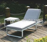 modern furniture metal aluminum with cushion pool beach sun lounger