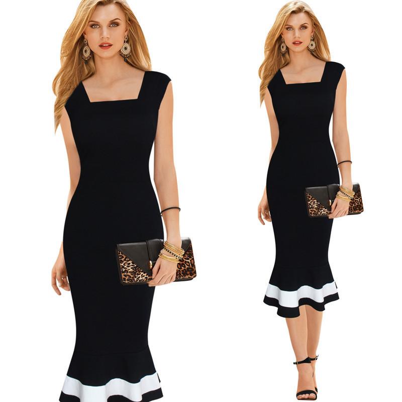 High Quality Fashion Office Formal Dress Plus Size Western Dress