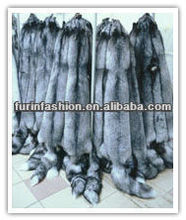 Fluffly Quality Sliver Fox Fur Skin For Collar/Jacket/Garment Accessories