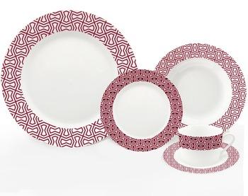 sevring serie porzellan geschirr 20 stcke mit geometrische muster - Geschirr Muster