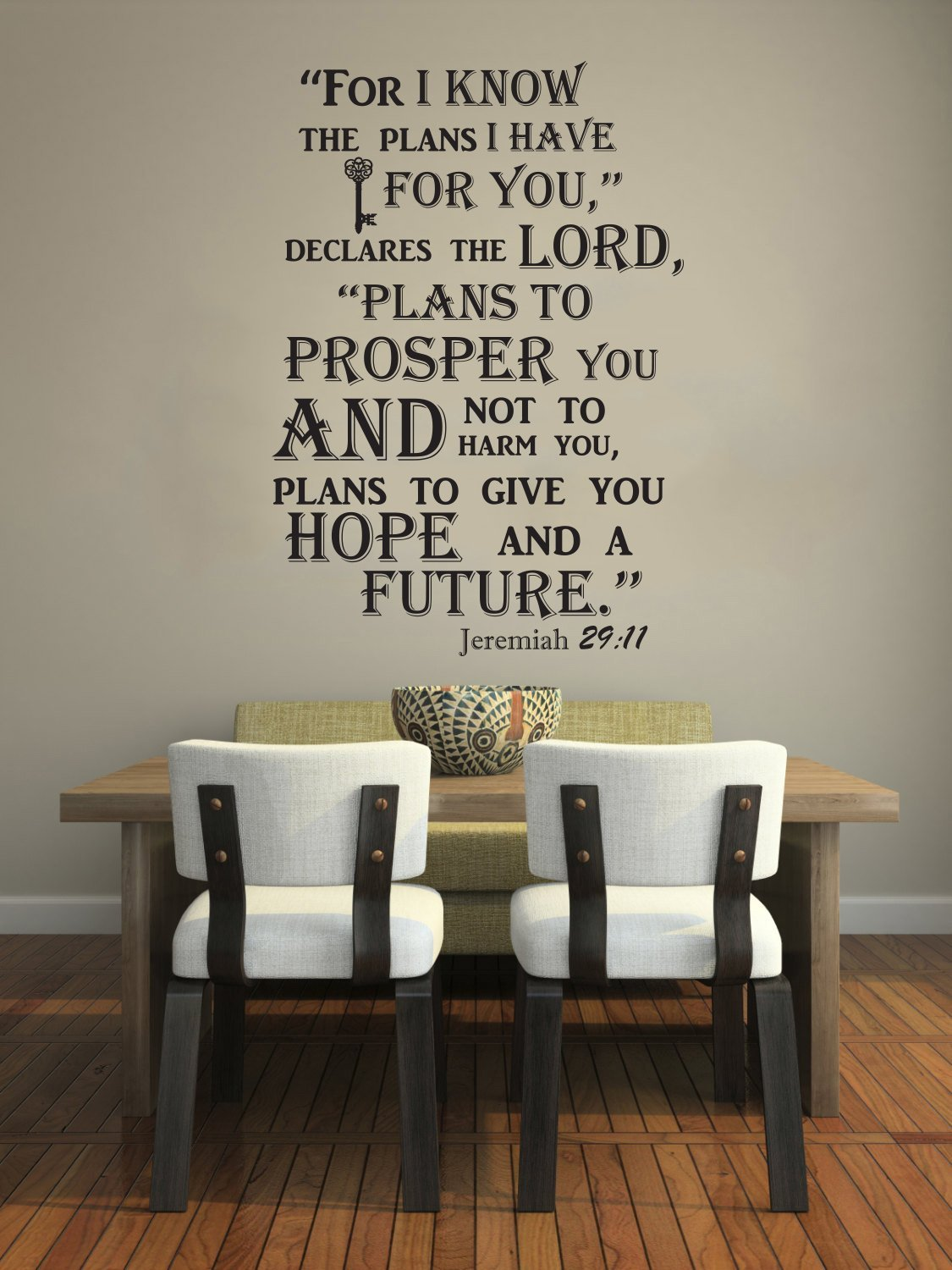 Buy Wall Decals Quotes Jeremiah 2911 Bible Verse Sign Words Family