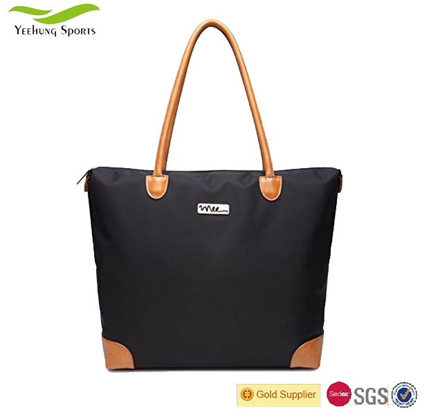 Water Resistance Nylon Daily Use Beach Tote Bag with Shoulder Strap Women Zipper China Manufacturer