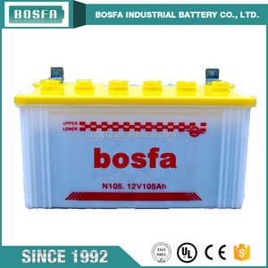 N105 12 v 105 ah car dry agm electric acid battery 12 volt battery for cars and trucks