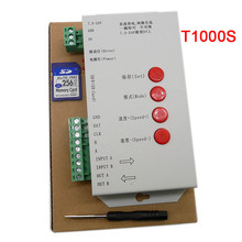 T1000S T-1000S Kartu SD untuk WS2801 WS2811 LPD6803 <span class=keywords><strong>Pixel</strong></span> LED Controller RGB Full Color DC5V-24V RGB Bermain <span class=keywords><strong>Video</strong></span>
