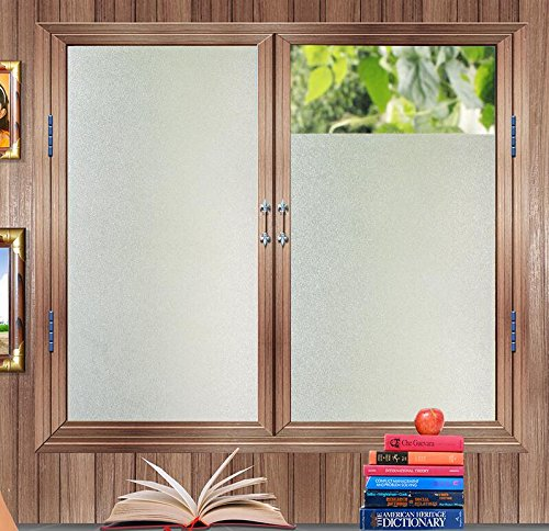 Get quotations · 35 5 by 78 7 inches window film bofeifs non adhesive frosted privacy window static cling for