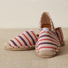 2015 china por mayor de encargo hecho a mano zapatos de suela yute mujeres alpargatas baratas