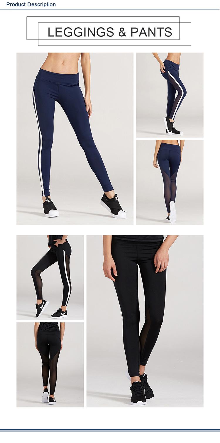 Ladies sexy fitness sport workout pants women gym mesh yoga leggings