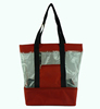 polyester promotional cooler tote beach bag / clear pvc beach bag with front pocket / Waterproof picnic pack beach coole