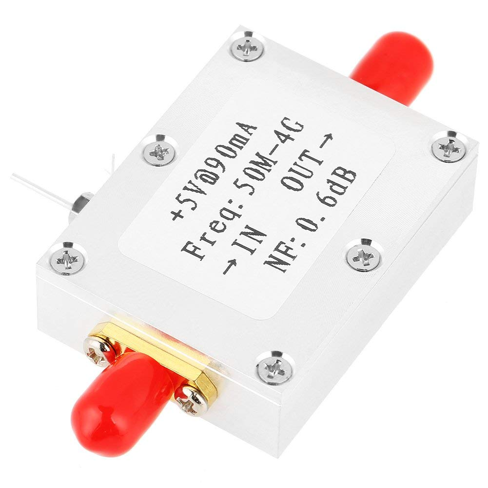 Low Noise Amplifier,1pc Low Noise Amplifier LNA 50M-4GHz NF=0.6dB RF FM HF VHF / UHF Ham Radio -110dBm