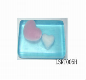 transparent love shape soap