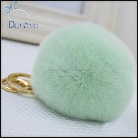 The New High-Rex Rabbit Hairy Ball Stuffed Ball Keychain Car Key Ring