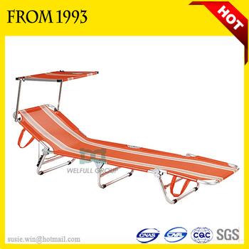 Bsci Aluminum Cheap Folding Camping Bed Lightweight Sun Lounger ...