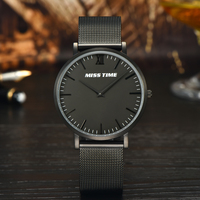 Classic japan movt quartz watch stainless steel back waterproof wristwatches