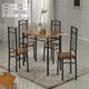 D505 wrought iron dining table and chair/powder coating metal frame dining set