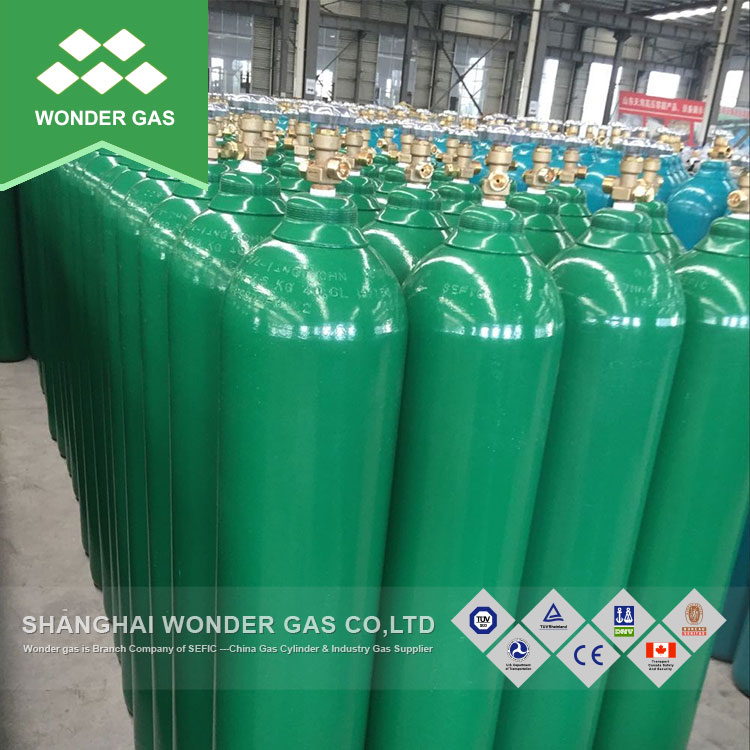 Used For Welding 23.6L E Size Oxygen/Nitrogen/Argon/CO2 Gas Cylinder