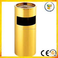 indoor round high quality stainless steel rubbish containers for restaurant