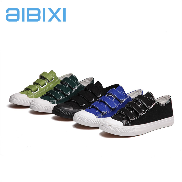 AIBIXI China Designer Women Canvas Shoes Dark Green And Black Casual Sneakers