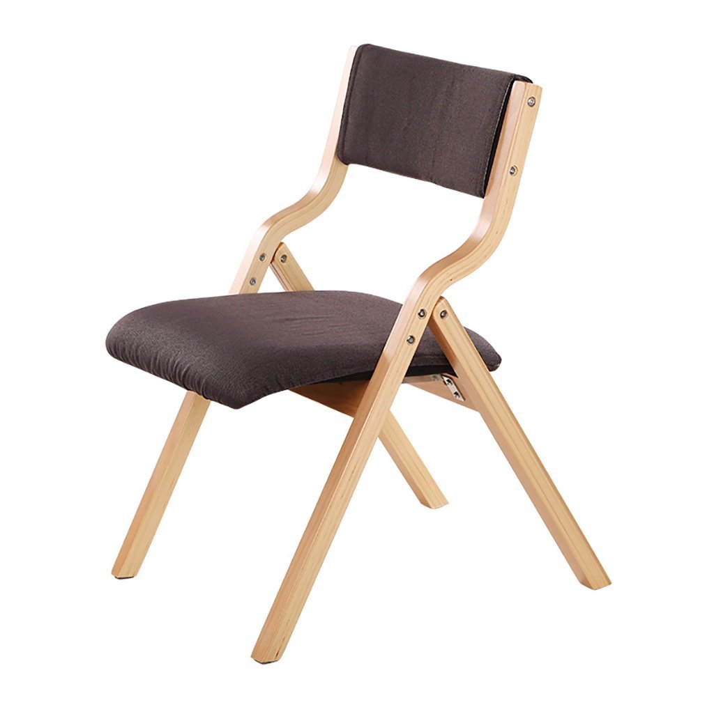 foldupchairs Dining Table Chair Simple Stylish Wood Dining Chair Modern Comfortable Back Chair Home Folding Desk Chair Folding Chairs (Color : J)