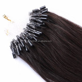 Celebrity Choice! Best Quality Double Drawn Virgin Remy micro ring loop 100% human hair