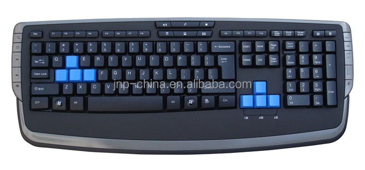 Middle Laser Lighting or side lighting different color of AWSD keycaps gaming keyboard