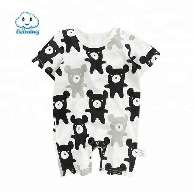 new summer high quality cotton newborn baby clothes organic baby rompers